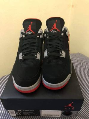 Jordan retro 4 bred 2019 for Sale in Lakehurst, NJ