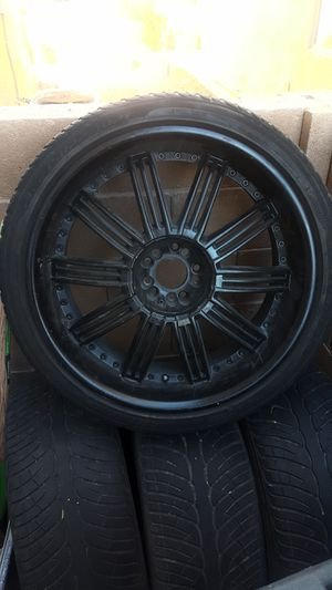 $400 BLACK 22'S // 4 RIMS WITH TIRE for Sale in Las Vegas, NV