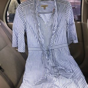 Blue and white Burberry dress size 4 for Sale in Seminole, FL