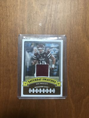 Dak Prescott Mississippi State Cowboys jersey card for Sale in Raleigh, NC