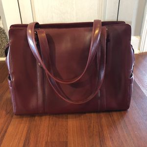 Maroon Leather Briefcase for Sale in Lancaster, KY