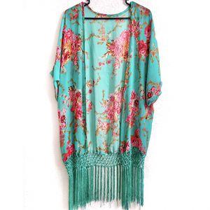 Floral Print Macrame Fringe Kimono for Sale in Lenexa, KS