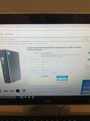 HP ELITEDESK I7 MINI DESKTOP for Sale in Chicago, IL