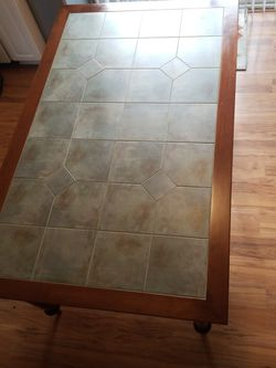Maple And Tile Top Dining Room Table Soft Green for Sale in Wilsonville,  OR