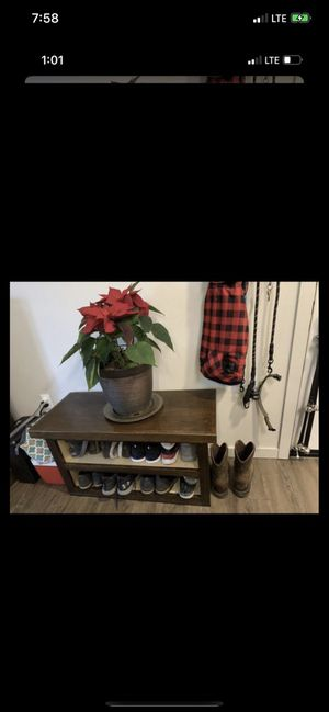 Entry table behind couch shoe rack shelf. for Sale in Clackamas, OR