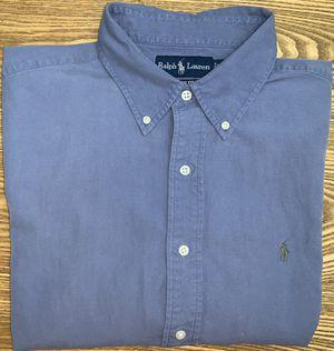 Ralph Lauren Men's Blue Button Down Dress Shirt XLarge Short Sleeve for Sale in Wyoming, MI