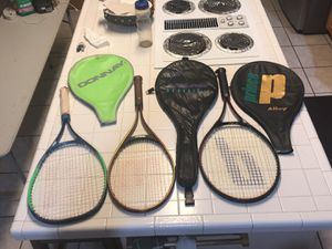 3 full size tennis rackets with covers for Sale in Albuquerque, NM