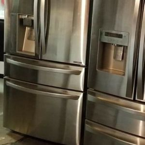 ⭐☀Huge Sale store full of nice reconditioned refrigerator washer dryer stove stackable+financing available free warranty for Sale in Kent, WA