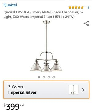 Quoizel Emery metal shade chandelier for Sale in Murfreesboro, TN