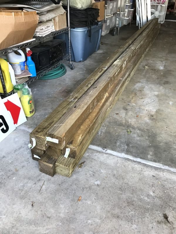 4X4 X 16 pressure treated wood for Sale in Orlando, FL - OfferUp