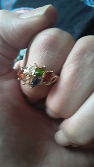 Multi stone gold ring (sz 8) for Sale in White Hall, WV
