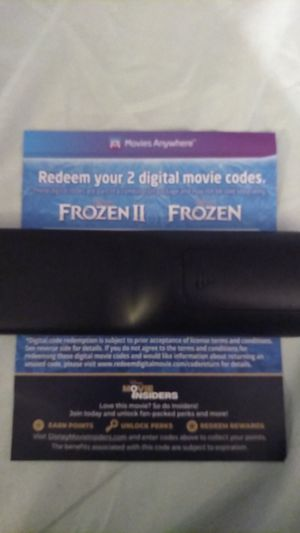 Frozen and Frozen 2 Blu Ray digital codes for Sale in Tracy, CA