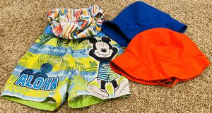 2T 24 month swim trunks, swim summer sun hats, swim diaper for Sale in Westminster, CO