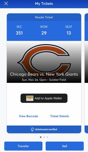 Chicago football tickets for Sale in Chicago, IL
