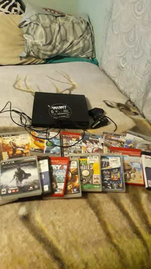 Ps3 bundle games lot ps3 works great hdmi and power supply included works great barly ever use it hmu if your interested for Sale in Lakeland, FL