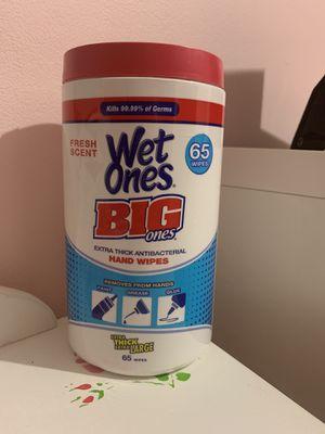 Wet ones Antibacterial Big Ones for Sale in Greenbelt, MD