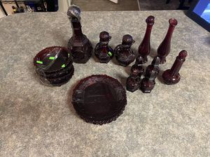 Ruby Red Glass Avon 1876 Cape Cod Collection/Antiques for Sale in St. Petersburg, FL