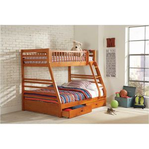 New twin over full bunk bed with storage tax included delivery available for Sale in Hayward, CA