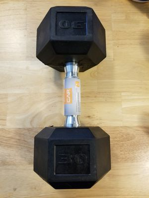 30lb Standard Rubber Coated Dumbbell for Sale in Seattle, WA