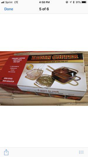 """KADEN COPPER Ceramic Copper Non-Stick Pan Set and 10""""KADEN COPPER FryPan for Sale in Chicago, IL"""