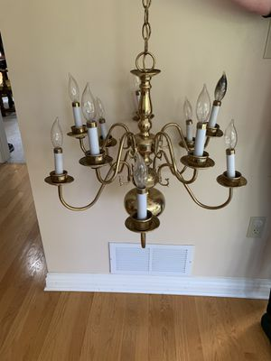 10 Arm Brass Chandelier for Sale in Pittsburgh, PA