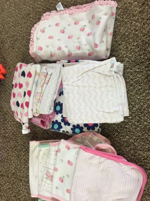 Burp clothes receiving blankets bibs for Sale in Parma Heights, OH