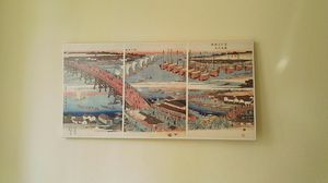 """HIROSHIGE printed canvas Painting x32"""" Length x16"""" Height x1"""" Thick (HK Harbor) !! for Sale in Los Angeles, CA"""