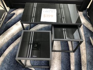 3 pc Coffee Table for Sale in Richfield Township, MI