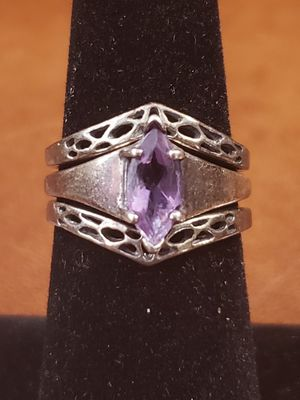 Amathyst Solitaire Ring Set for Sale in Mansfield, OH
