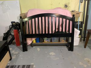 SOLID WOOD HEAD BOARD WITH BED FRAME for Sale in North Attleborough, MA