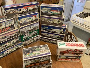 35 years of Hess story toy truck collection for Sale in Stonington, CT