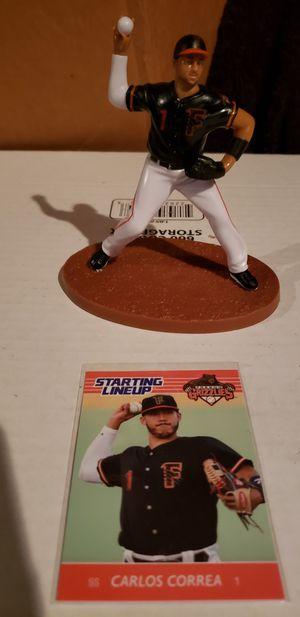 Astros/Grizzlies Carlos Correa action figures with card for Sale in Clovis, CA