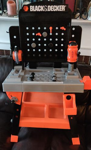 Black And Decker Workbench Toy WorkShop Power Tools Working Saw, Drill , flashlight for Sale in TN OF TONA, NY