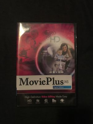 MoviePlus x6 Video Editing Software for Sale in Perris, CA