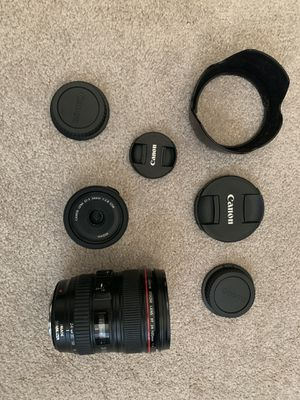 Canon EF 24-105mm F4 L IS USF Lens + FREE Canon EF-S 24mm lens. Total retail value over $1k for Sale in Bolingbrook, IL