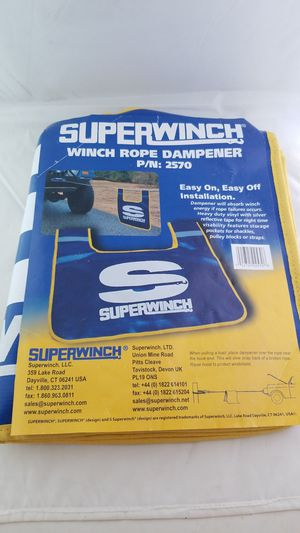 Superwinch Winch Dampener / Blanket P/N: 2570 - High Visibility - Mint Condition for Sale in Bellingham, WA