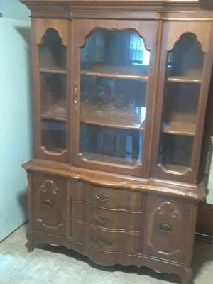 Hardwood China cabinet for Sale in Orange, TX
