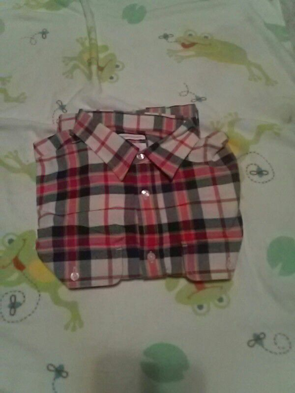 Old Navy Red long sleeve collared shirt