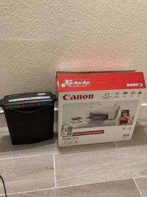 canon wireless printer and paper shredder for Sale in Tempe, AZ