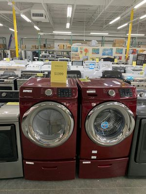NEW samsung Cherry Red Front Load Washer Dryer for Sale in La Puente, CA