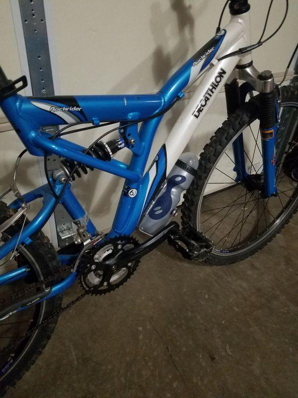 24 speed aluminium upgraded 6.1 Rockrider offroad mens mountain bike