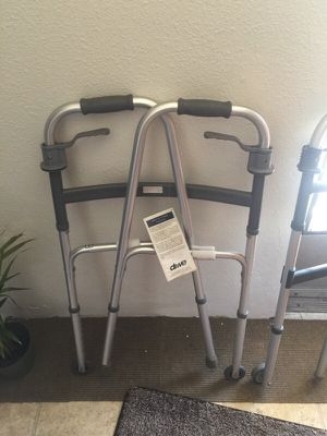 2 walkers - 1 brand new- shower seat for Sale in San Diego, CA