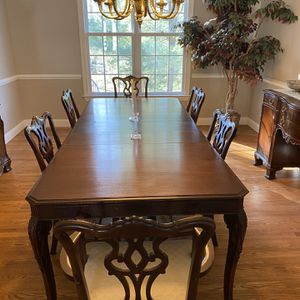 Mahogany Chippendale Dining Room Set for Sale in Rockville, MD