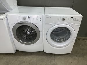 FRONT LOADING XL CAPACITY WASHER DRYER ELECTRIC SET for Sale in Vancouver, WA