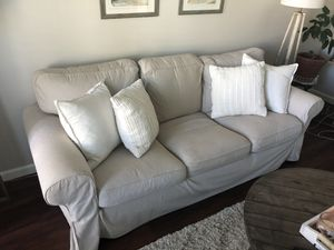 Cream sofa (pillows included!) for Sale in San Diego, CA