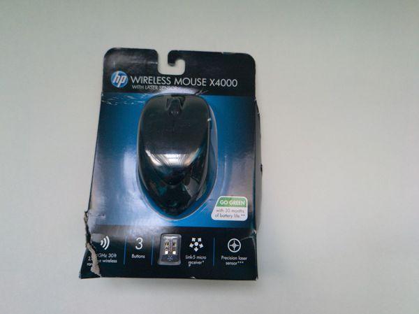 HP - X4000 Wireless Laser Mouse - Black