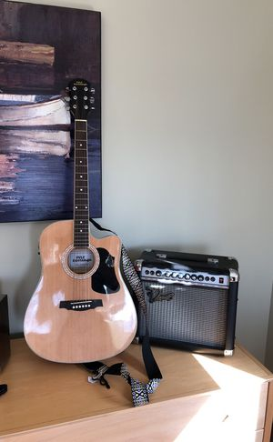 Brand new Pyle guitar and Amplifier for Sale in Chicago, IL