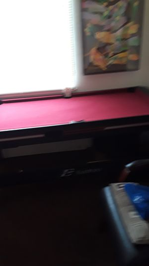 Pool table with reversible air hockey in good condition I was asking 150 but I'll take 125 or 100 minor defect. for Sale in Los Angeles, CA