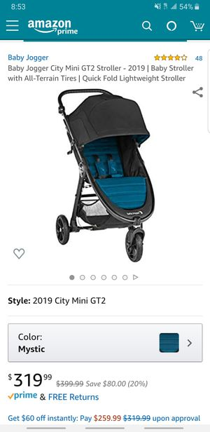 Baby Jogger City Mini GT2 Stroller - 2019 | Baby Stroller with All-Terrain Tires | Quick Fold Lightweight Stroller for Sale in Jurupa Valley, CA