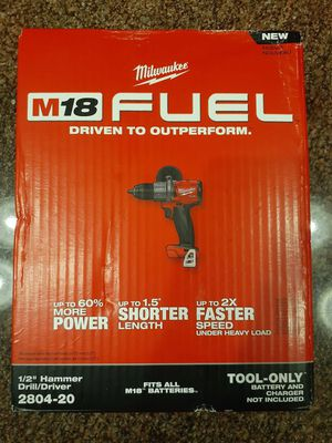 """Brand new Milwaukee M18 Fuel 1/2"""" hammer drill for Sale in Milwaukee, WI"""